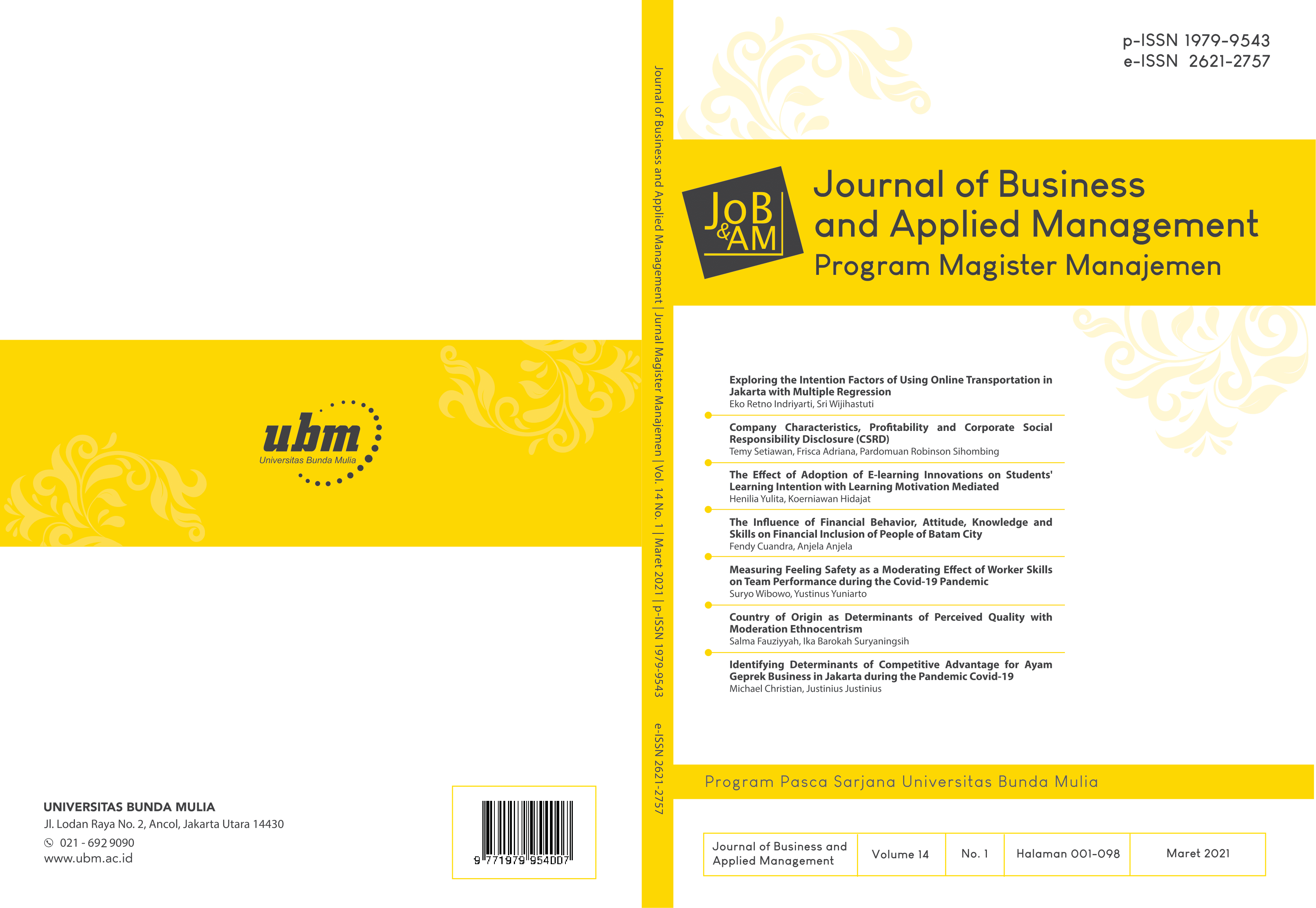 Cover Jurnal MM-UBM Vol 14 No 1 (2021)