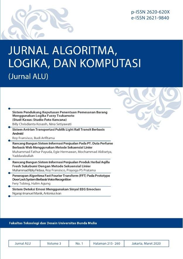 Jurnal ALU Volume 3 Nomor 1